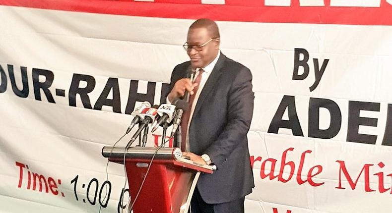 Prof Umar Danbatta, NCC's vice chairman at the Valedictory Press Conference Of Adebayo Shittu in Abuja, Monday, May 21 (Twitter/Dr Adebayo Shittu)