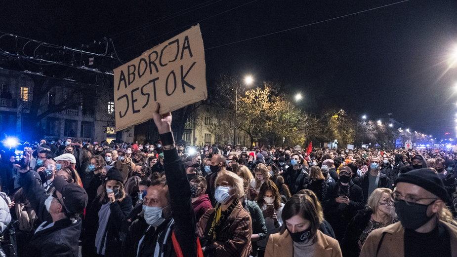 Protest w Warszawie po wyroku TK ws. aborcji