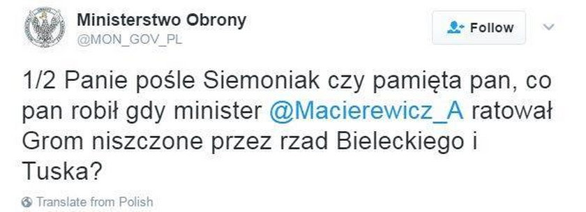 Żenujące wpisy na Twitterze ministerstwa obrony