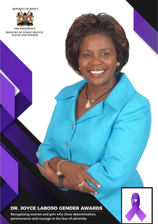Public Service CS Margaret Kobia introduces Dr Joyce Laboso Gender Awards for women and girls