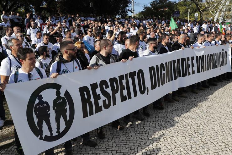 Protest policajaca u Portugaliji