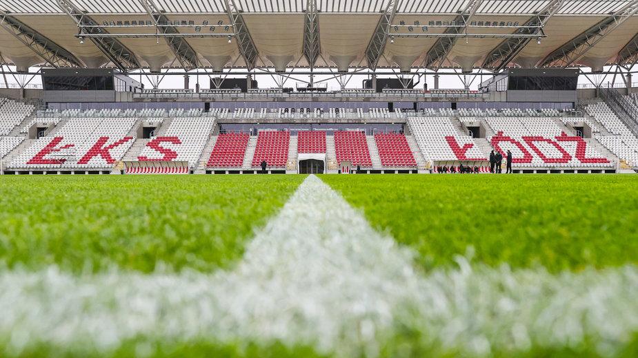 Stadion ŁKS-u Łódź (zdjęcie z listopada 2020 r.)