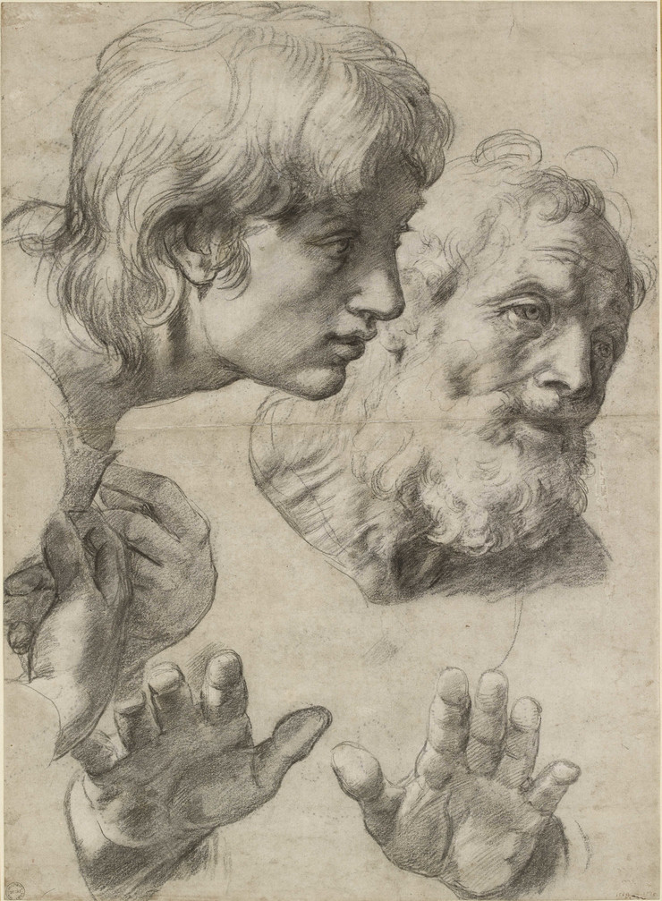 Rafael Dva apostola Two Apostles (c) Ashmolean Museum, University of Oxford