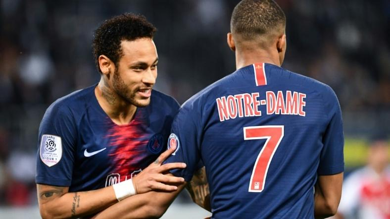 Neymar made his return for newly-crowned Ligue 1 champions Paris Saint-Germain as Kylian Mbappe fired a hat-trick past Monaco