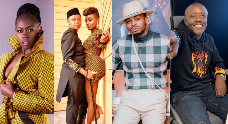Akothee, Diamond Platnumnz, Michelle Ntalami and Makena Njeri and Maina Kageni
