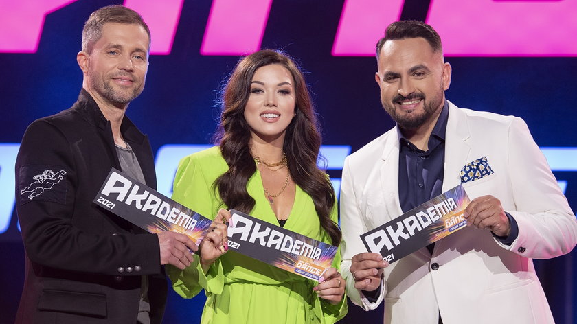 """Klaudia Antos, Agustin Egurrola i Michał Misha Kostrzewski, jurorzy """"You Can Dance - Nowa Generacja"""""""