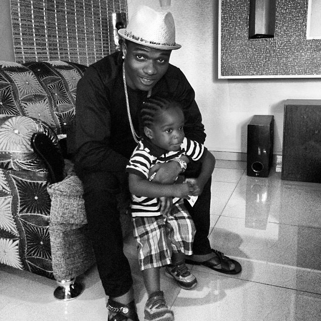 Wizkid welcomed his first son, Boluwatife in 2011 at the age of 21 with his then-girlfriend turned baby mama, Shola Ogudugu