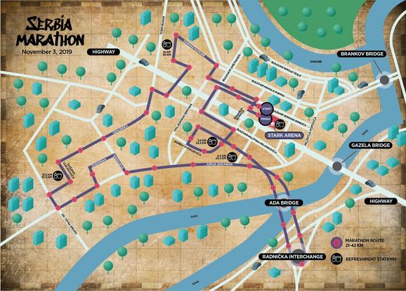 Trasa kojom će trčati maratonci