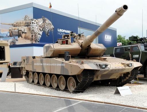 Leopard 2A7, podczas prezentacji w 2010 roku fot. AFP