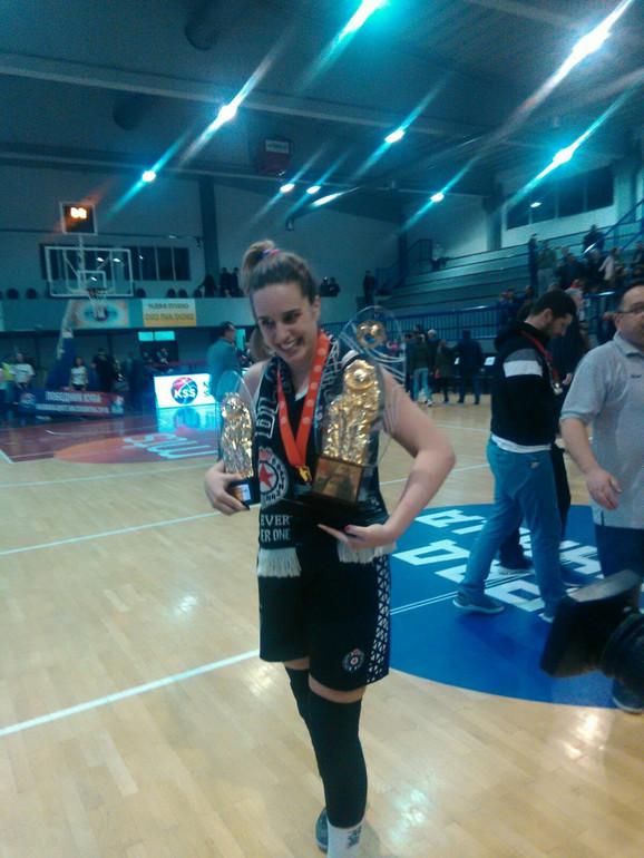 Kapiten košarkašica Partizana: Olga Stepanović