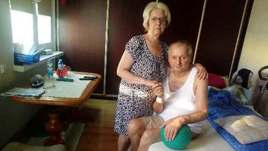 Marian Wojtyna z żoną Marią