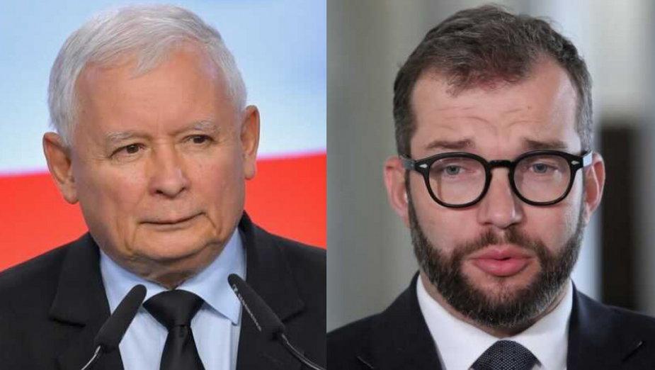 Wicepremier Jarosław Kaczyński i nowy minister rolnictwa Grzegorz Puda