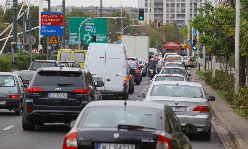 Co męczy kierowców w Warszawie?