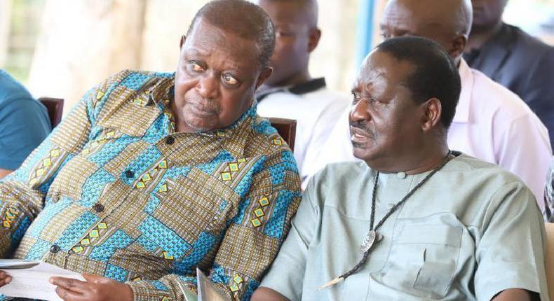 File image of Oburu Oginga with Raila Odinga