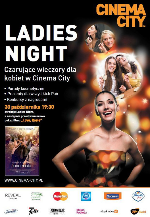 "Ladies Night: ""Love, Rosie"" w Cinema City"