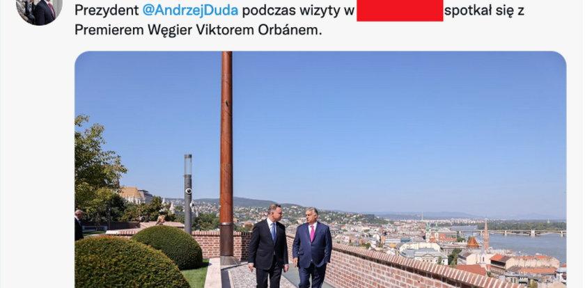 Wpadka Kancelarii Prezydenta. Gdzie posłała Andrzeja Dudę? Ten wpis już zniknął z sieci