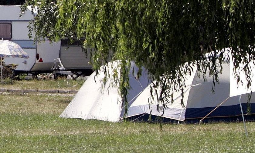Wypadek na polu namiotowym