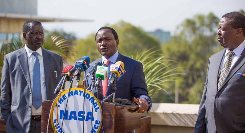 Wiper leader Kalonzo Musyoka and ODM leader Raila Odinga