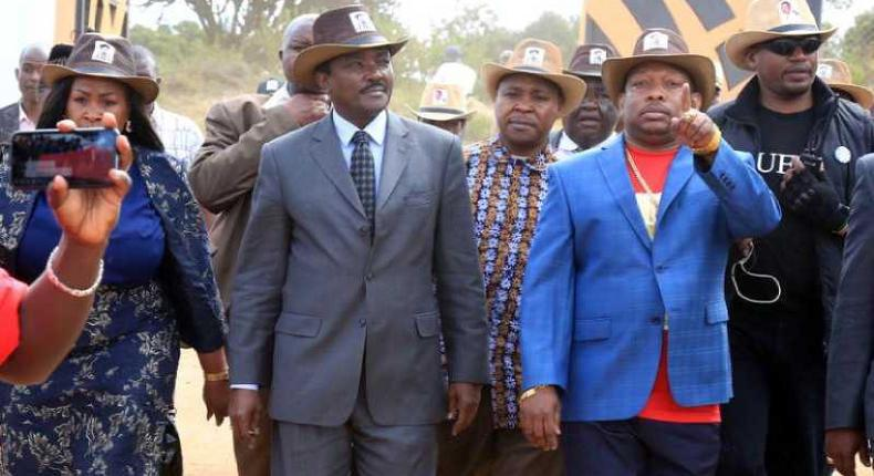 Nairobi Governor Mike Sonko with Wiper party leader Kalonzo Musyoka
