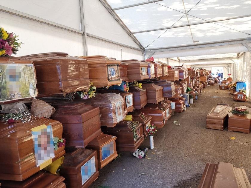 Palermo: Setki trumien czekają na pogrzeb