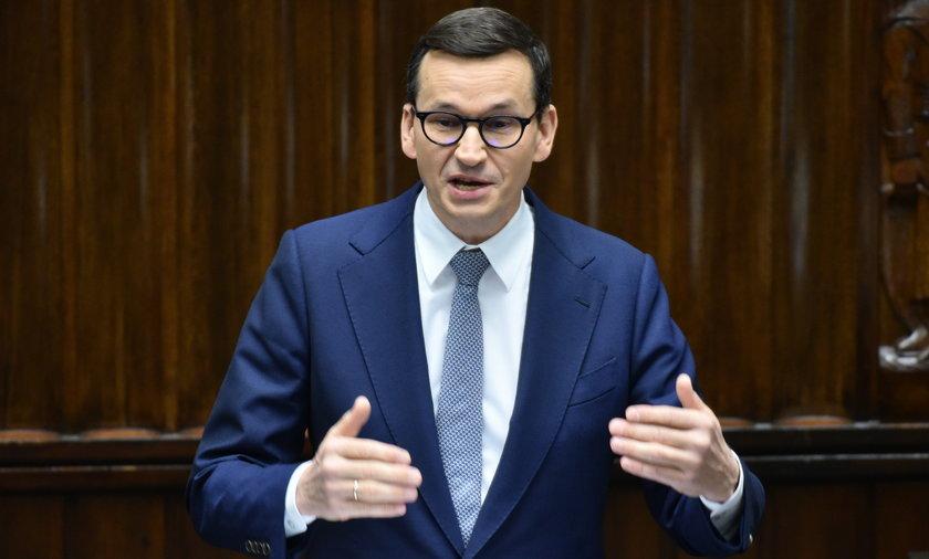 Mateusz Morawiecki przemawiał pół godziny.