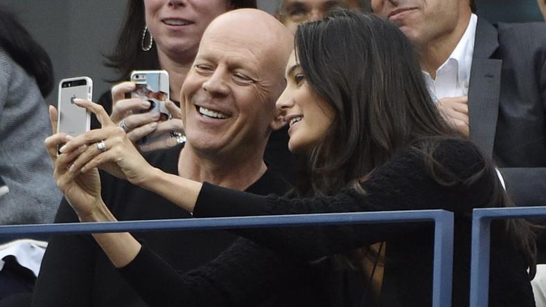 Bruce Willis z żoną Emmą Heming