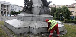 Pomnik Tadeusza Kościuszki w Warszawie zniszczony po raz drugi