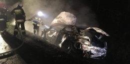 Auto spłonęło przez sarnę