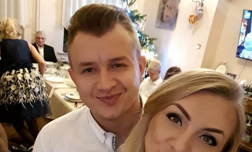 Dawid Narożny i jego partnerka