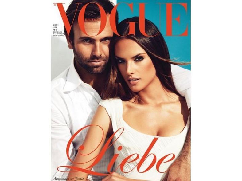"""Alessandra Ambrosio i Jamie Mazur na okładce niemieckiego """"Vogue"""""""