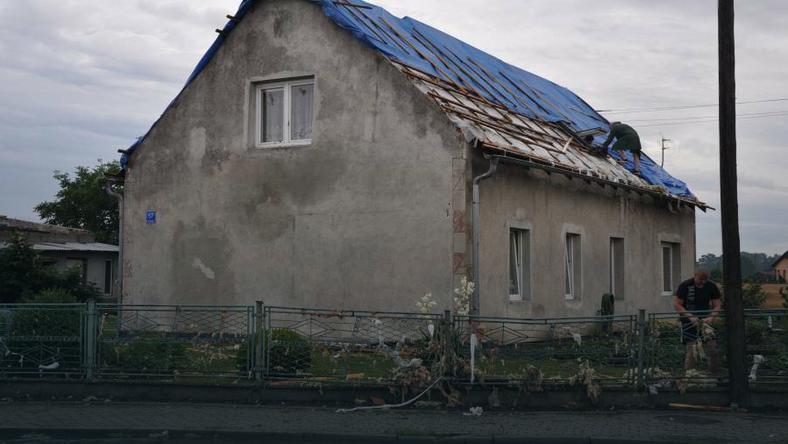 Zniszczenia w Kędzierzynie-Koźlu