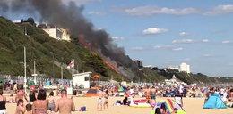 Plażowicze przeżyli chwile grozy. Pożar w nadmorskim kurorcie