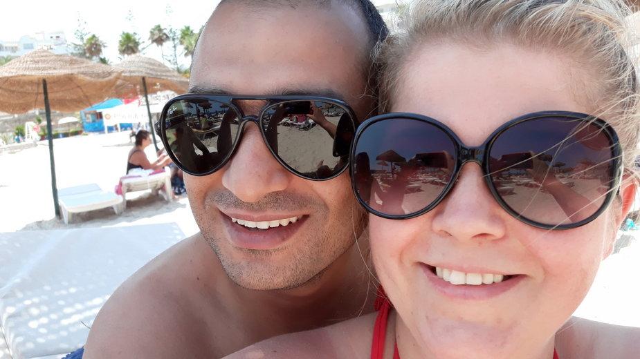 Monika Sayed z mężem