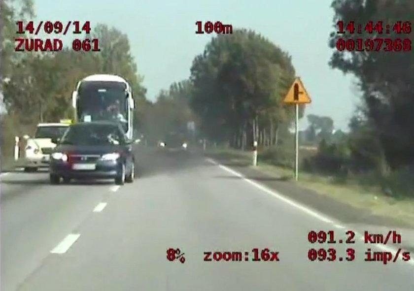 nagranie z policyjnej kamery