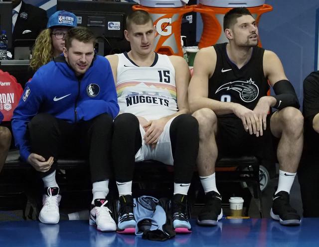 Luka Dončić, Nikola Jokić i Nikola Vučević