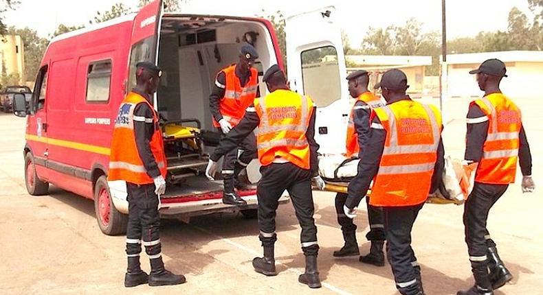 Accident sur la route de Touba