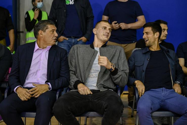 Nikola Jokić i Novak Đoković