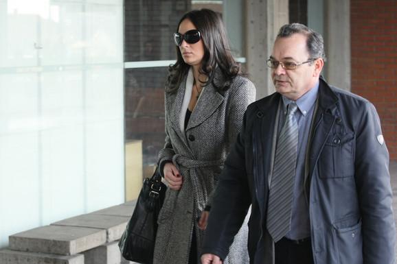 Petra Cvijić i advokat Milenko Milisavljević
