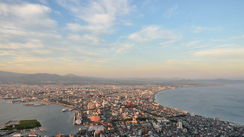 Widok na wyspę Hokkaido