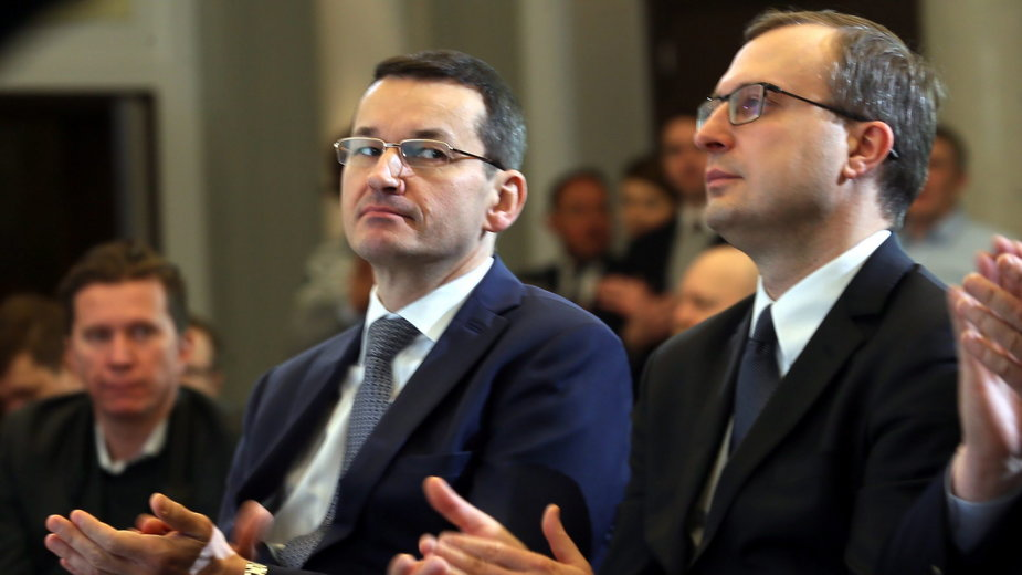 (od prawej) Paweł Borys i Mateusz Morawiecki. 1.02.2017 r.