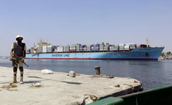 Suecki kanal 12. avgusta 2014.
