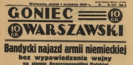 Co podała prasa 1 września 1939 r.? Zobacz!