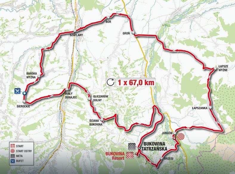 Tour de Pologne - mapa trasy