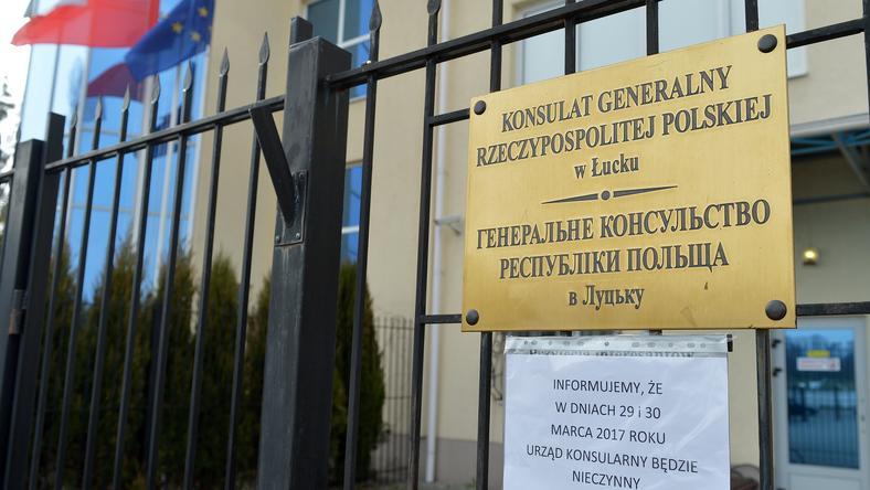 Według SBU protest to prowokacja, za którą stoją ludzie odpowiedzialni za atak na konsulat w Łucku