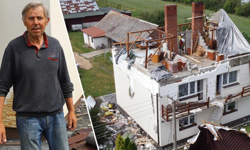 Dom Henryka Gizy ucierpiał podczas huraganu