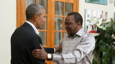 Uhuru leads the nation in condoling with the Obamas following Mama Sarah's passing