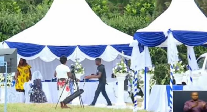 A screen grab of chaos at a past wedding