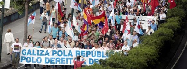 Protesty przeciwników monarchii. Fot. EPA/CABALAR
