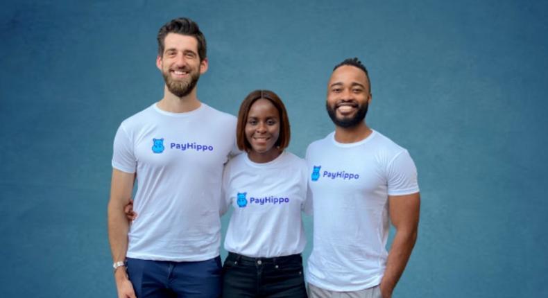 Payhippo co-founders: L-R: Zach Bijesse (CEO), Chioma Okotcha (COO), and Uche Nnadi (CTO).