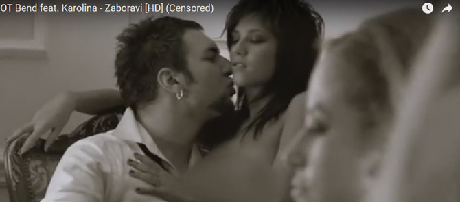 Kristina golišava u muzičkom spotu